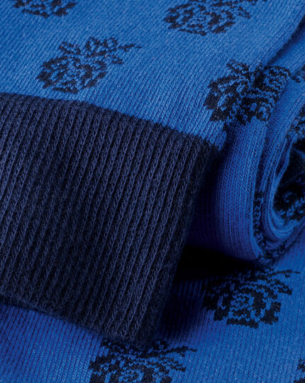 Socken mit England Rugby-Rose - Ozeanblau