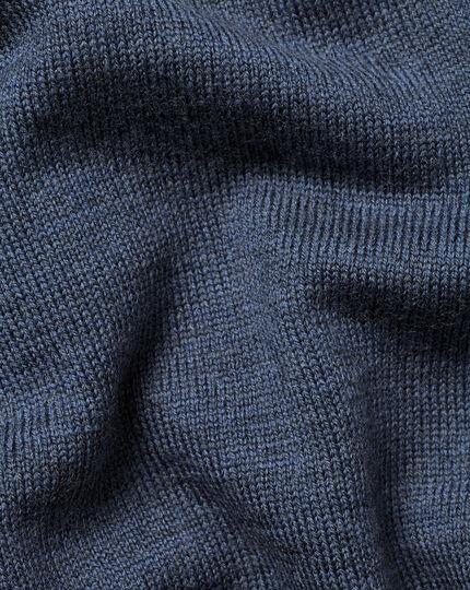 England Rugby Merino Zip Neck Sweater  - Indigo
