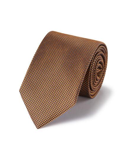 Stain Resistant Silk Textured Tie - Copper