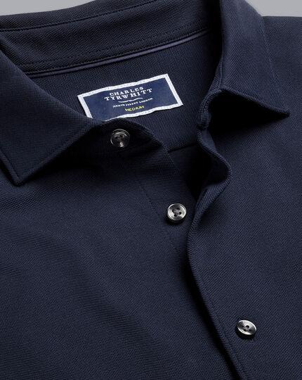 Pique Jersey Shirt - Navy