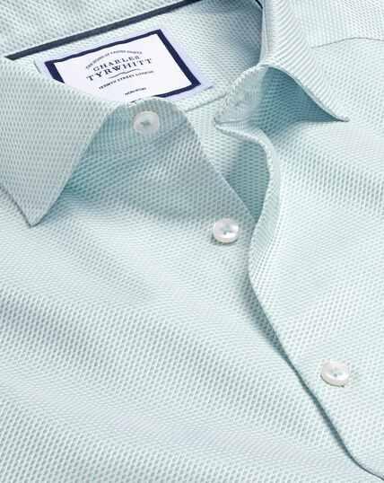 Smart Casual Collar Non-Iron Stretch Texture Shirt - Green