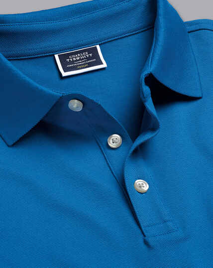 Tyrwhitt Pique Polo - Bright Blue