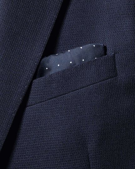 2-in-1 Silk Face Mask/Pocket Square - Navy