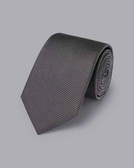 Krawatte aus Seide - Grau