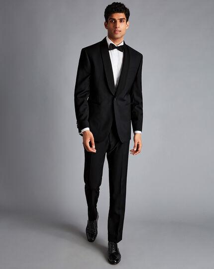 Shawl Collar Tuxedo Jacket - Black