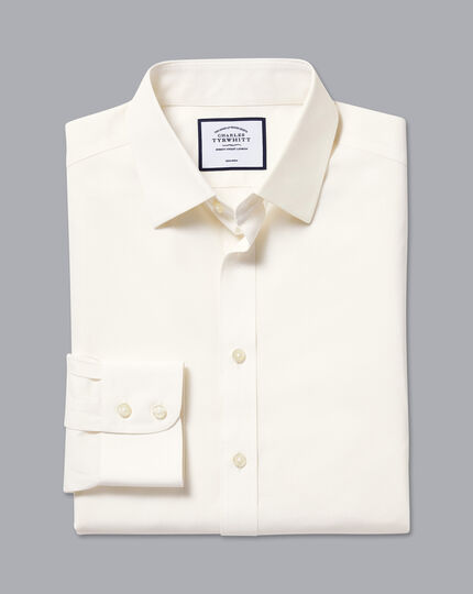 Non-Iron Poplin Shirt - Cream