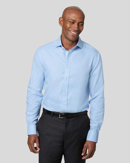 Cutaway Collar Non-Iron Twill Shirt - Sky