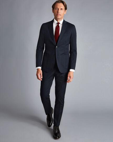 Italian Cotton Suit - Navy