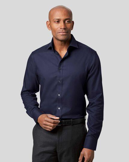 Cutaway Collar Non-Iron Twill Shirt - Navy