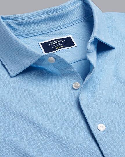 Pique Jersey Shirt - Sky