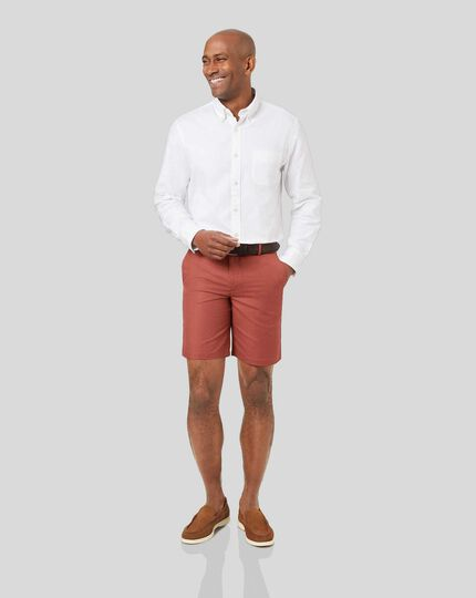 Cotton Linen Shorts - Red