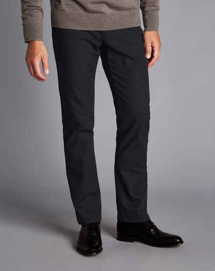 Diamond Dobby 5-Pocket Pants - Charcoal