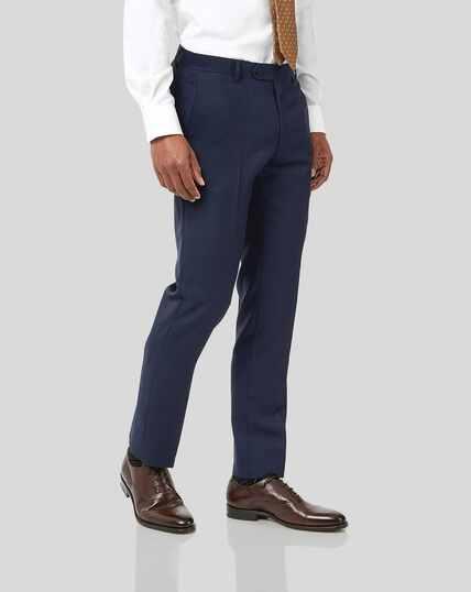 Birdseye Travel Suit Pants - Ink Blue
