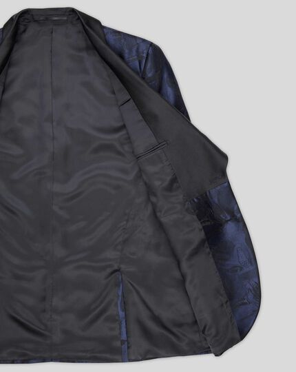 Jacquard Jacket - Midnight Blue