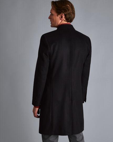 Italian Wool Cashmere Overcoat - Black