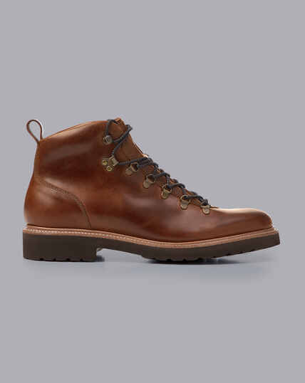 Goodyear Welted Commando Sole Boots - Mocha