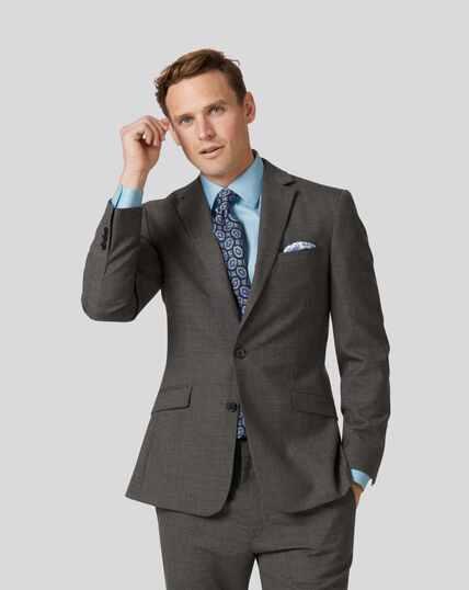 Merino Business Suit Jacket - Grey