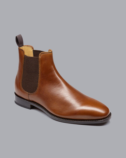 Goodyear Welted Chelsea Boots  - Tan