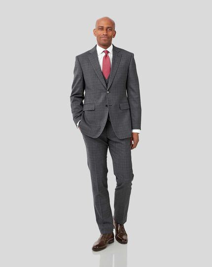 Crosshatch Suit Jacket - Grey