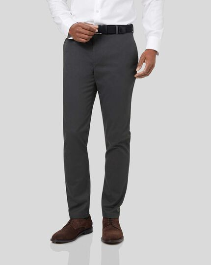 Ultimate Non-Iron Chinos - Charcoal
