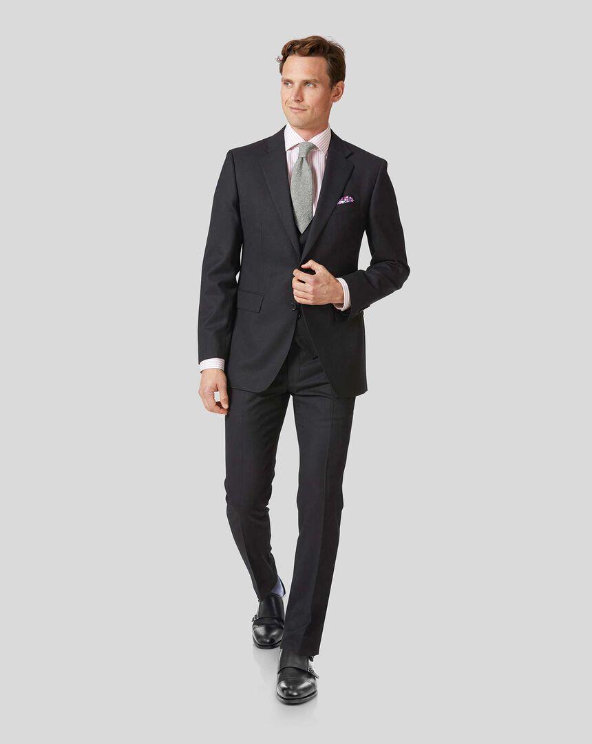 Birdseye Travel Suit - Charcoal