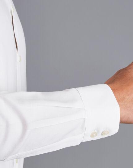 Spread Collar Non-Iron Regent Weave Shirt - White