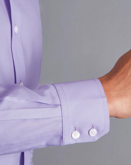 Cutaway Collar Non-Iron Twill Shirt - Lilac Purple