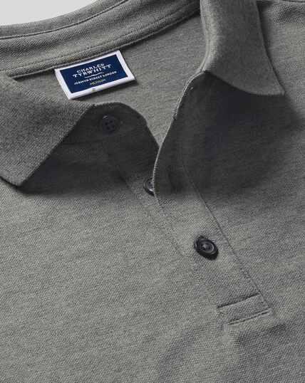 Tyrwhitt Pique Polo - Grey
