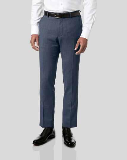 Birdseye Travel Suit Pants - Light Blue