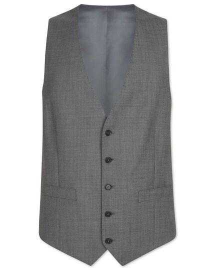 Light grey adjustable fit sharkskin travel suit vest