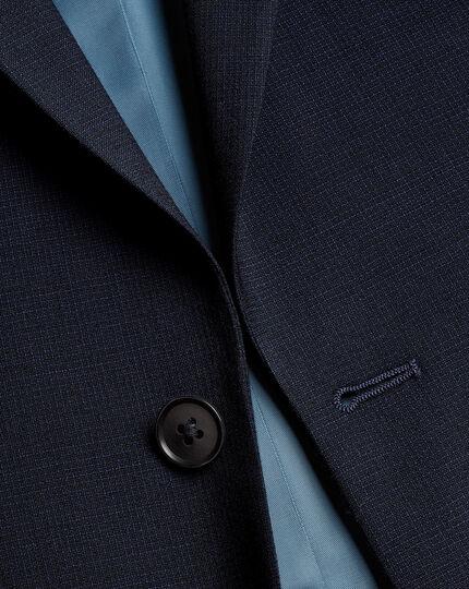 Business Textured Suit - Navy