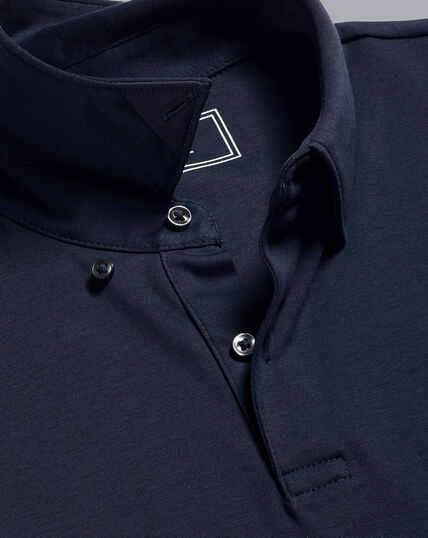 Smartes Jersey-Polo - Marineblau