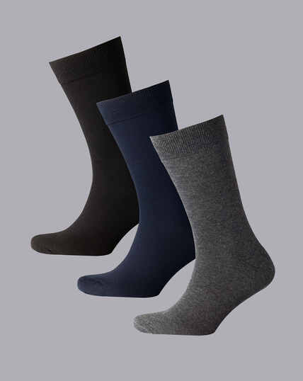 Cotton Rich 3 Pack Socks - Multi