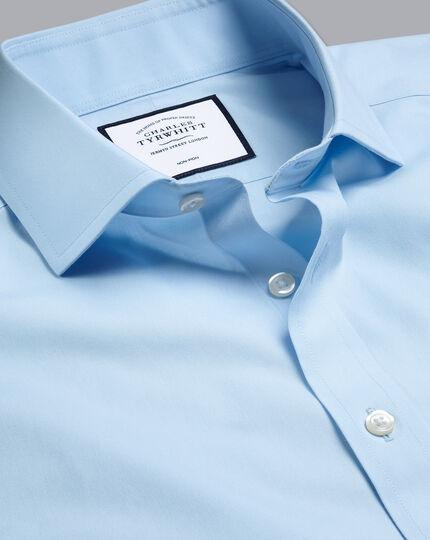 Cutaway Collar Non-Iron Poplin Shirt - Sky Blue