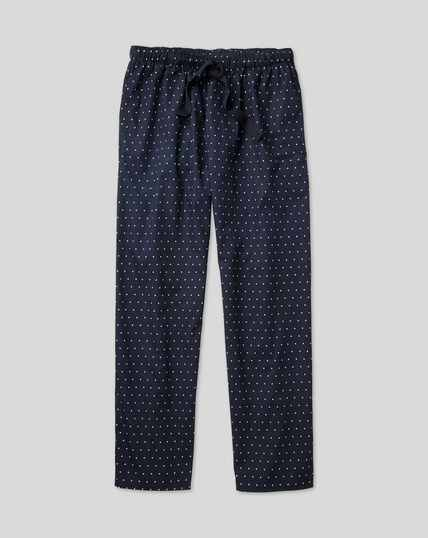 Printed Dot Pajama Bottoms - Navy