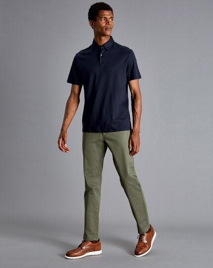 Cotton Stretch 5-Pocket Pants - Khaki