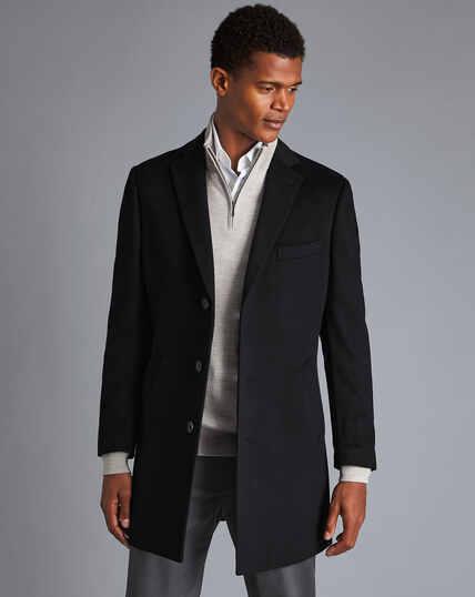 Mantel aus Wolle - Schwarz