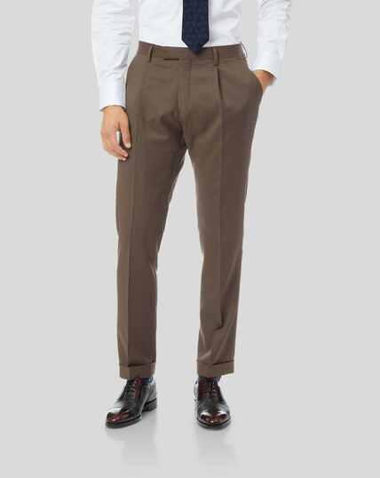 Luxury Suit Pants - Tan