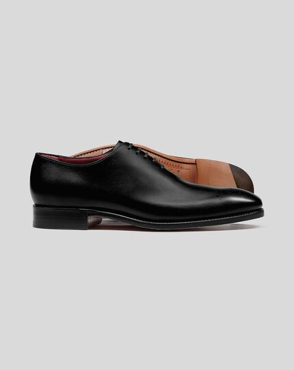 Made in England Flexible Sole Wholecut Shoe - Black
