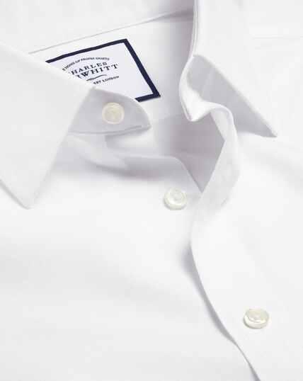 Non-Iron Poplin Shirt - White