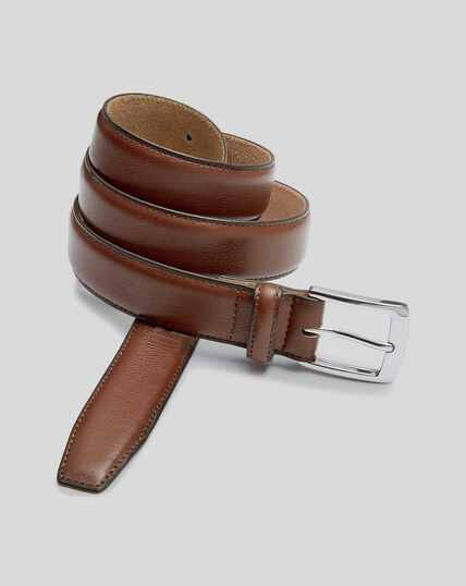 Leather Smart Belt - Tan