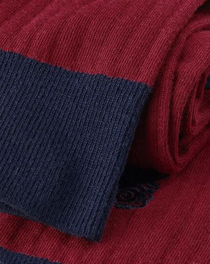 England Rugby Cotton Rib Socks - Red