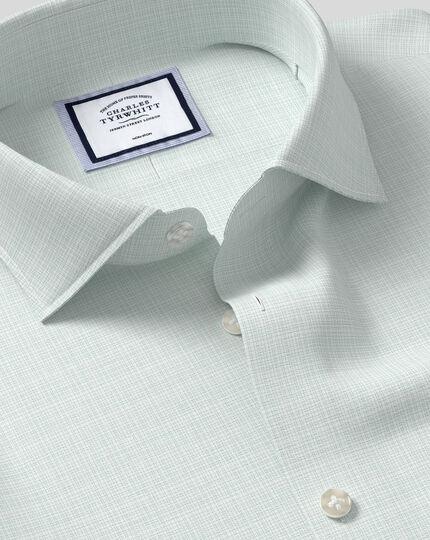 Business Casual Collar Non-Iron Natural Stretch Sketch Shirt - Green