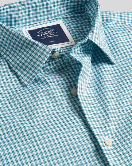 Brighton Oxfordhemd mit Karos und Kent Kragen - Grün