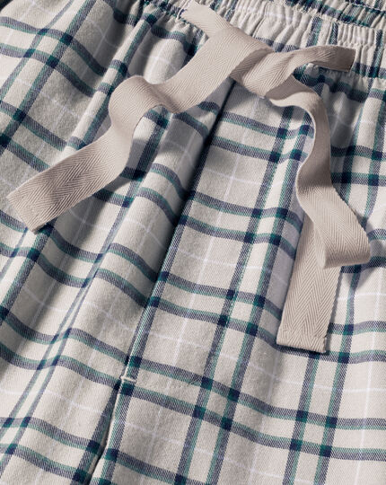 Schlafanzughose mit Karos - Kreideweiß & Jeansblau