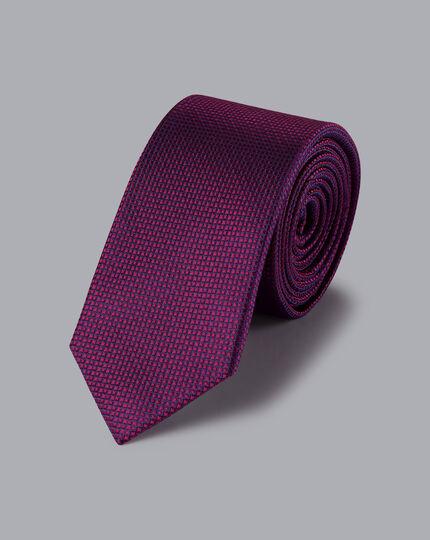 Stain Resistant Slim Silk Tie - Berry