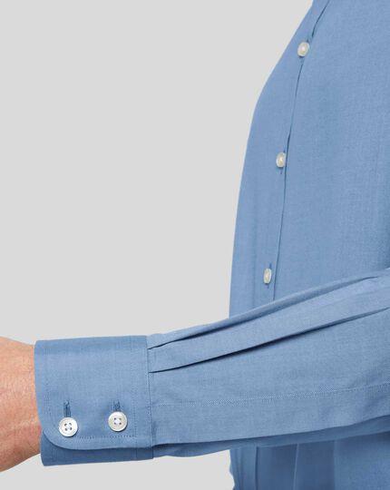 Bügelfreies Twill-Hemd - Blau