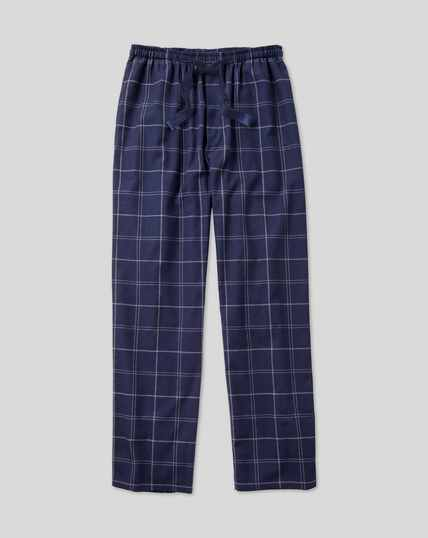 Check Pajama Bottoms - Navy & White