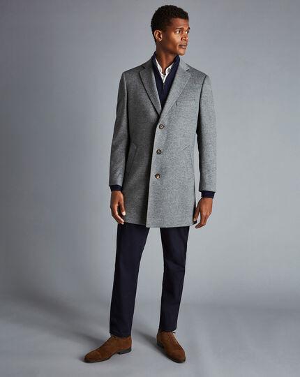 Mantel aus Wolle - Hellgrau
