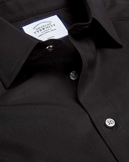 Non-Iron Poplin Shirt - Black